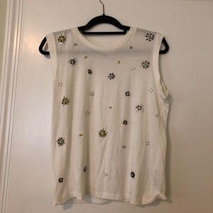 ZARA sequin studded shirt